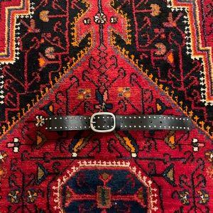 NEW TOPSHOP Studded Black Leather Belt